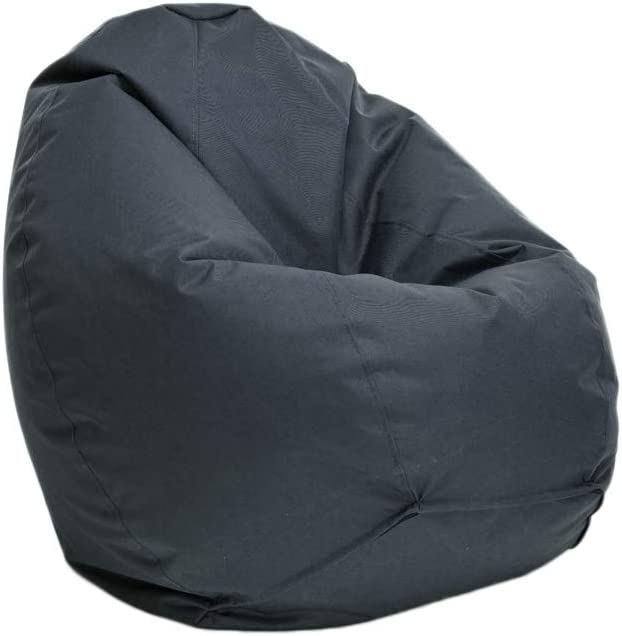Bruni Sitzsack Classico L In Grau Xl Sitzsack Mit Innensack Zum Lesen Abnehmbarer Bezug Eps Perlen Als Bean Bag Füllung Aus Deutschland
