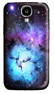 Blue Floral Nebula Custom Samsung Galaxy I9500/Samsung Galaxy S4 Case Cover Polycarbonate 3D