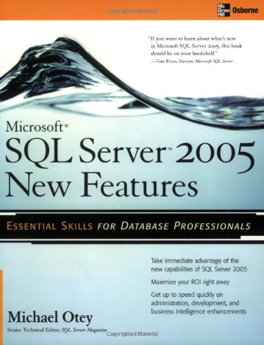 [PDF] Microsoft SQL Server 2005 New Features Free Download | Publisher : McGraw-Hill Osborne Media | Category : Computers & Internet | ISBN 10 : 0072227761 | ISBN 13 : 9780072227765