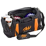 MOTIV Double Deluxe Tote Bowling Bag- Black/Orange ()