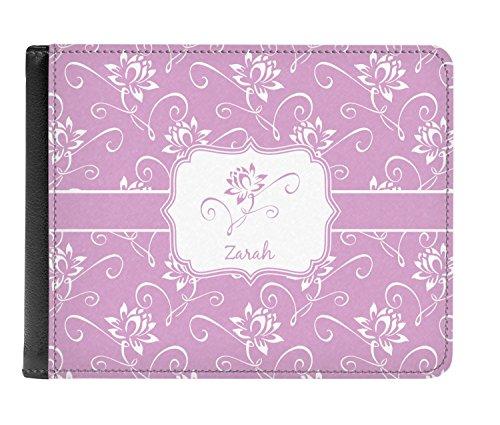Flowers Leather Genuine Bi fold Men's Genuine Wallet Men's Lotus fold Personalized Flowers Lotus Bi Leather 8xnq4q0RIw