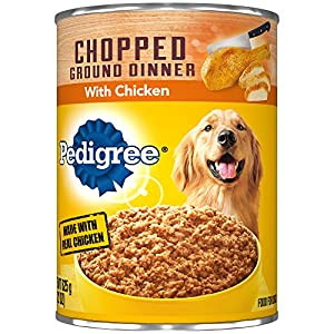 Pedigree Chopped Ground Dinner With Chicken Adult Canned Wet Dog Food, (12) 22 Oz. Cans 25