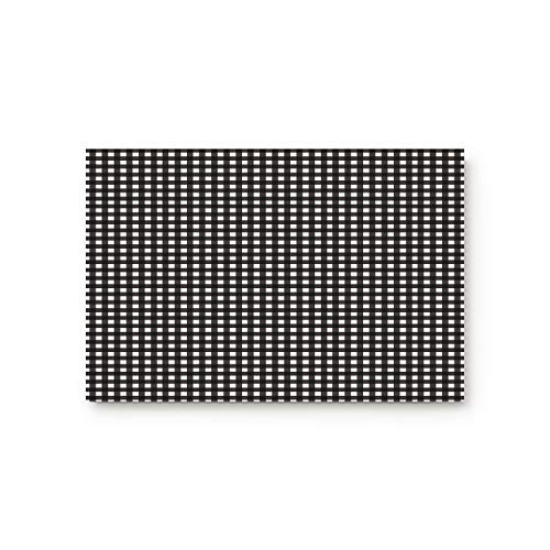 (Family Decor Doormat for Entrance Way Indoor/Bathroom/Front Door Area Floor Mat Rugs Rubber Non Slip Waterproof Absorb Kitchen Runner Carpet, Lattice England Classic Black White Grid (32