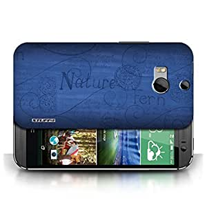 KOBALT? Protective Hard Back Phone Case / Cover for HTC One/1 M8 | Blue Design | Nature Pattern Collection