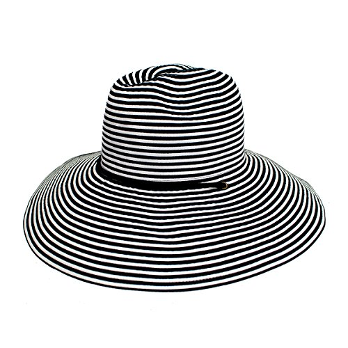 Peter Grimm Jade Lifeguard Hat Black and White ()