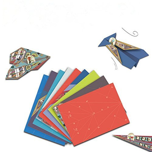 Price comparison product image Classic Paper Aircraft DIY Fold Flying Paper Airplane Kit ,Set of 20 Pieces of Paper , Keep the Sweat Memory of Childhood