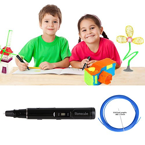 3D Printing Pen, Homecube 3D Stereo Drawing Pen with LCD Screen, 3D Drawing pen with 3 FREE 1.75mm PLA Filament , 3D Doodler Pen Promote Children's Brain Development with Safety Holder(Black)