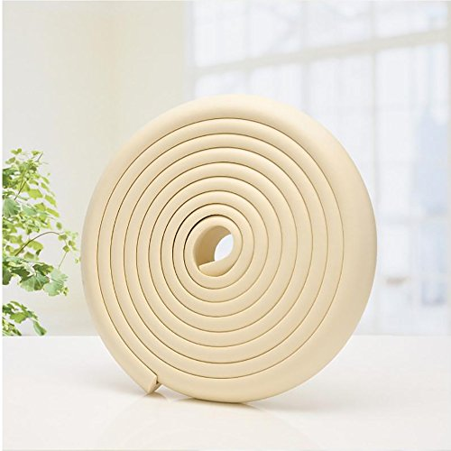BTMB Baby Proofing Edge Guards [16.4ft Edge + 10 Corners] Furniture Bumpers Corner Cushions with Double-Sided Tape(Beige) by BTMB (Image #1)