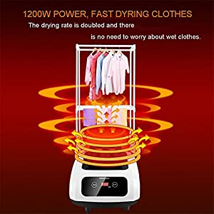 GX&XD Power Saving Energy Saving Quick Dry Clothes Dryer,Household Electric Laundry Drying Rack Clothing Dryer Rack