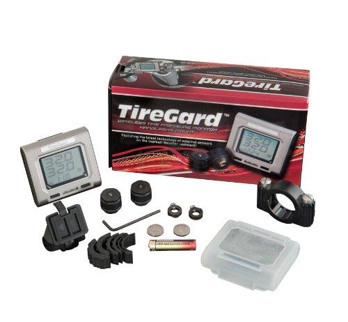 TireGard 13-318 Handlebar Mount Tire Pressure Monitoring System Chrome Handlebar Gauge Mount Clamps