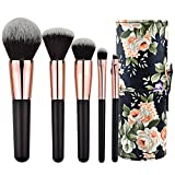 Makeup Brush Beginner Kit with Case 5 PCS Cosmetic Facial Make-up Brushes Travel