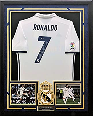 the best attitude 2034e 88658 Cristiano Ronaldo Autographed & Custom Framed Jersey with ...