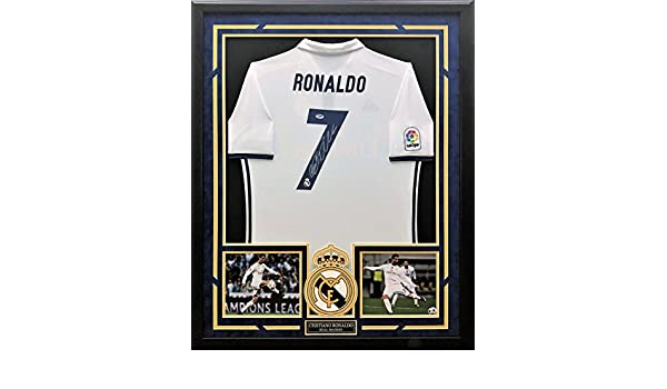 dd697b63c61 Cristiano Ronaldo Autographed   Custom Framed Jersey with PSA DNA  Authenticity at Amazon s Sports Collectibles Store