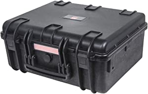 "Monoprice Weatherproof / Shockproof Hard Case - Black IP67 level dust and water protection up to 1 meter depth with Customizable Foam, 19"" x 16"" x 8"""