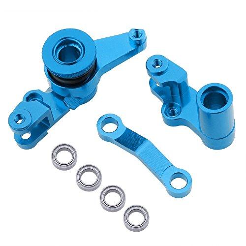 Hobbypark Aluminum Steering Bellcranks and Drag Link Servo Saver Complete For 1/10 Traxxas Slash 4x4 Hop Up Parts ()