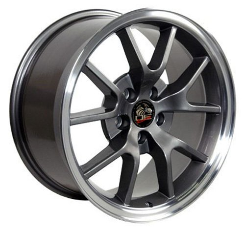 (18 Inch Fits Ford Mustang 1994-2004 FR500 Style FR05B Anthracite 18x9 Rim Aftermarket product, not original equipment)