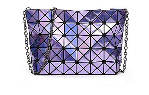 a ologramma blue Laser tracolla ologramma purple Donna Borsa Borsa argento geometrica Borsa q0tavWCw