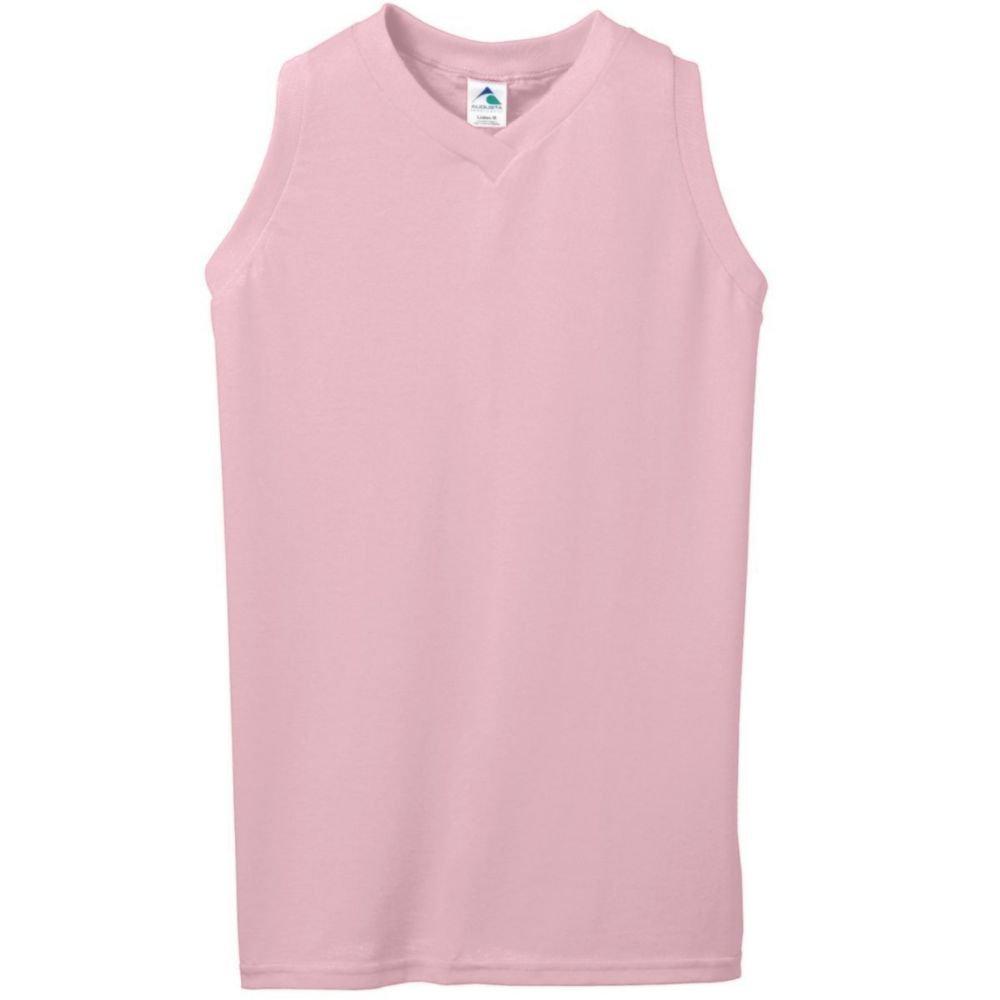 Augusta Activewear Girls Sleeveless V-Neck Poly//Cotton Jersey