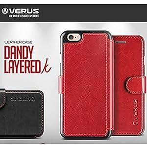 VERUS Dandy Layered Leather Diary Case Samsung Galaxy Note 4 N910 Wine Cellulari Carcasas y fundas