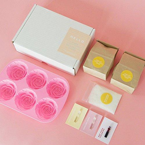Rose Coconut Goat Milk Soap DIY Kit, Makes 6 Moisturizing Soaps with EVERYTHING You Need