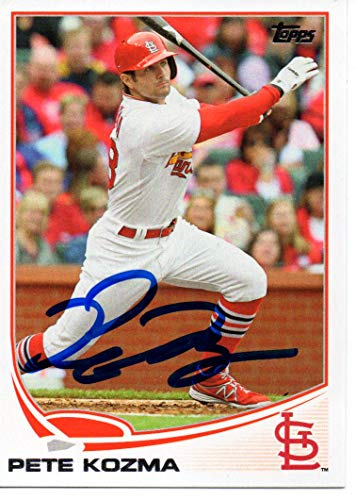 Update Autographed Card - Pete Kozma St. Louis Cardinals 2013 Topps Update Autographed Signed Card