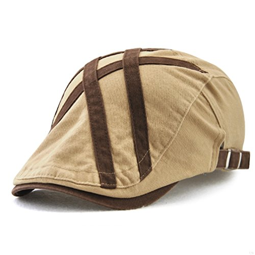 Summer Newsboy Hats for Men,Vintage Gatsby Irish Flat Cap Casual Unique Running Fitted Bill Duckbill Trucker Low Profile Adjustable Cotton Womens Mens Ivy Golf Hats Spring Summer Autumn Winter Beige