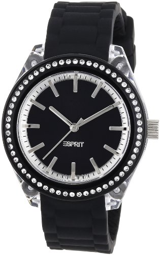 ESPRIT Women's ES900672012 Play Glam Black Analog Watch