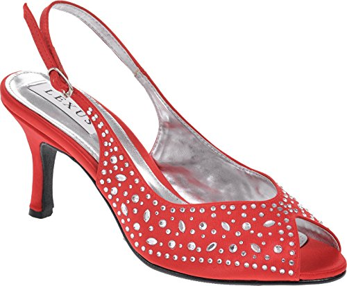 Ladies Finish Toe Back Sling with Peep Extravagant Sandal DiamantÚ wwHPqnzr