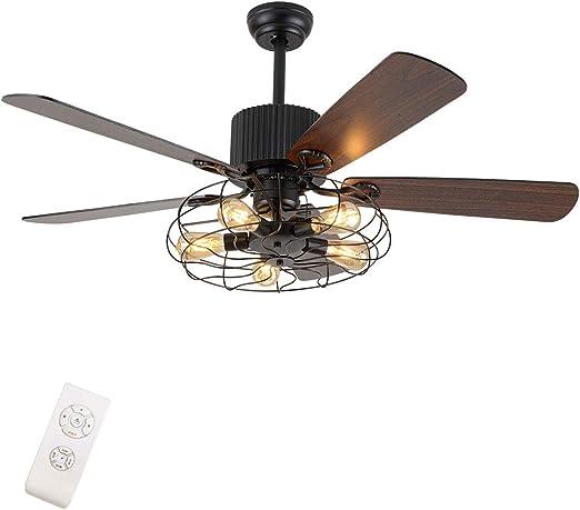 WUPYI2018 36 Zoll LED Deckenleuchte mit Ventilator und Fernbedienung Crystal Chandelier Fan Dimmbar Decken Ventilator Deckenventilatoren mit Beleuchtung
