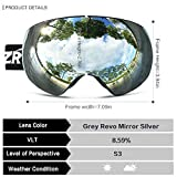 ZIONOR X7 Ski Snowboard Snow Goggles for Men Women