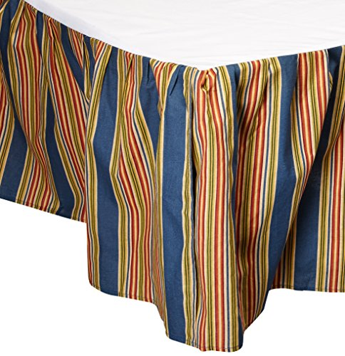 C&F Home Wakefield Stripes Twin Bed Skirt, 39 by 76-Inch