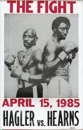 Hagler vs Hearns Fight Vintage Style Poster by Nostalgia Print