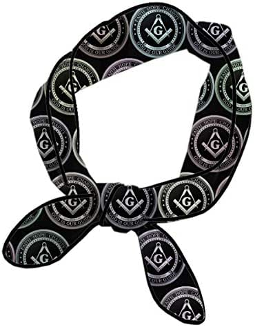 Neckerchief For Women Ladies Girls, Masonic Faith Hope Charity Freemason Logos Headband, Skinny & Long Handbag Handle Decor Wrap, Classic Knotted Yoga Head Wrap, Small Cute Neck Scarf