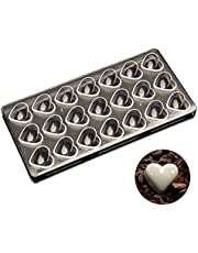 Polycarbonate Chocolate Mold, Heart Shaped Chocolate Making Mold for Mousse, Jelly, Chocolate, Truffles. Candy Making Molds