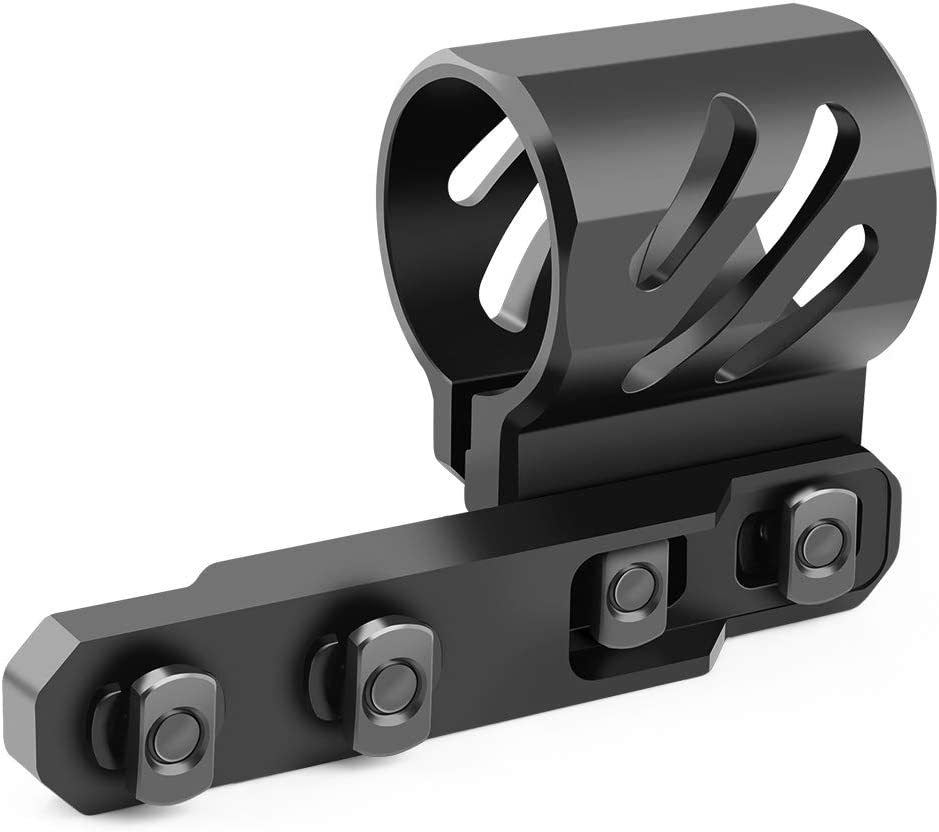 Feyachi M-Lok Offset Flashlight Ring Mount for Mlok Rail System - 2 Mounting Inserts Included fits 27mm 25.4mm 20mm Diameter Flashlight 51wqdN5UAFL