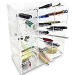 Ikee Design Acrylic 6-Shelf Office Desk Organizer/Caddy Organizer Racks/Desk Supplies Organizer Caddy/Drawer Sorting Desk Storage – Caddies for Office or Teacher Supplies