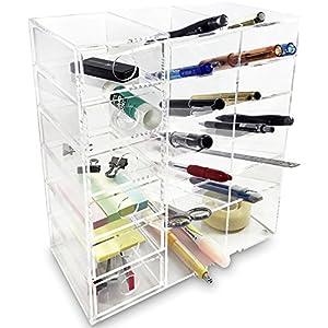 Ikee Design Acrylic 6 Shelf Office Desk Organizer/ Caddy Organizer Racks/  Desk Supplies Organizer Caddy/ Drawer Sorting Desk Storage U2013 Caddies For  Office Or ...