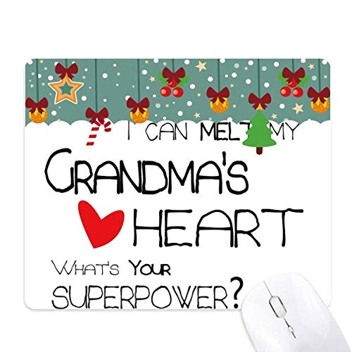 I Can Melt My Grandma's Heart Nana Mouse Pad Game Office Mat Christmas Rubber Pad