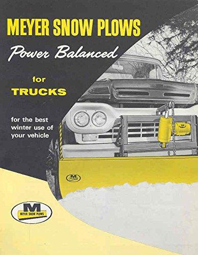Reversible Plow - 1961 Meyer Reversible Blade & V Type Snow Plow Brochure