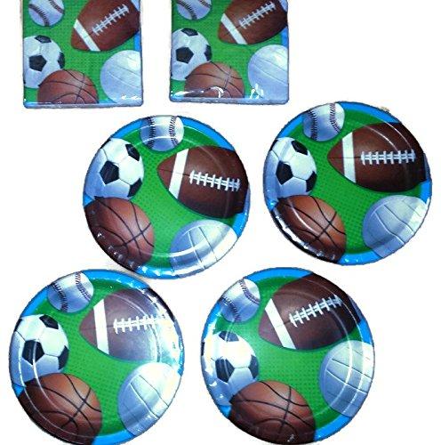 Baseball Football Soccer Sports Fanatic Party Bundle 9