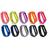 Baaletc Replacement Wrist Band Accessory for Fitbit One Wireless Activity Plus Sleep Tracker Wristband Bracelet (Pack of 10)