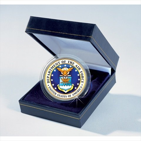 American Coin Treasures 7464 Armed Forces Commemorative Colorized JFK Half Dollar - Air Force - Air Force Memorabilia