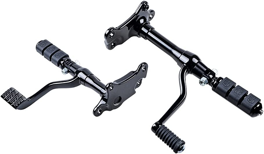 Full Set Black Forward Control Lever Linkage with Mounting Kit Compatible with Harley Sportster XL883 XL1200 1996-2003