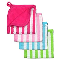 green sprouts Muslin Washcloths made from Organic Cotton,Pink Set
