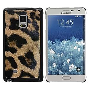 TopCaseStore / la caja del caucho duro de la cubierta de protección de la piel - Brown Fur Pattern Black - Samsung Galaxy Mega 5.8 9150 9152