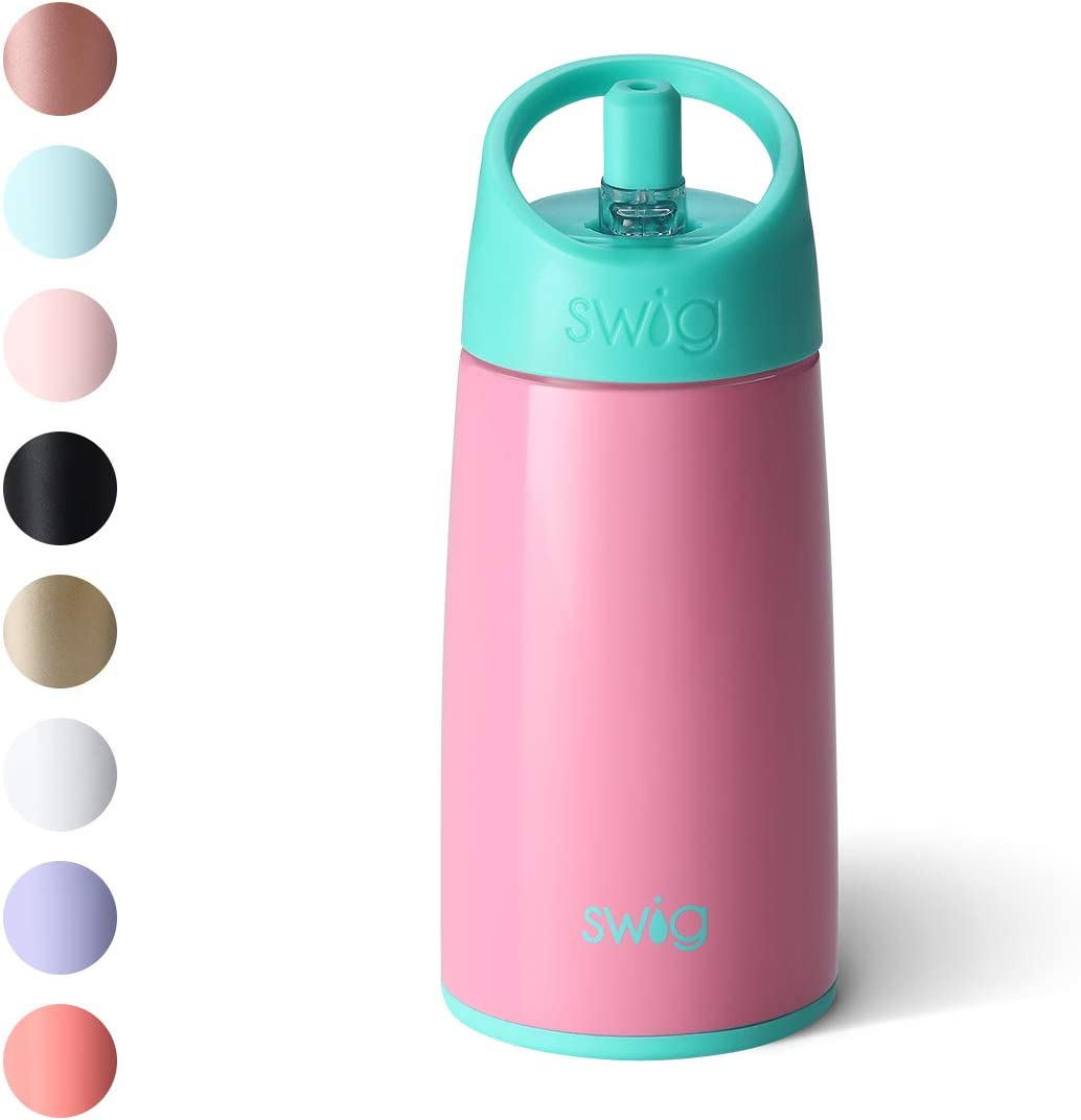 Dishwasher Safe Swig Life 12oz Triple Insulated Stainless Steel Water Bottle with Straw Lid Vacuum Sealed Reusable Water Tumbler Double Wall