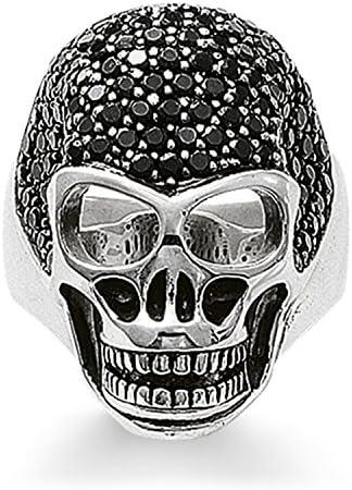 THOMAS SABO Unisex Ring TR1705-051-11 925er Sterlingsilber, Geschwärzt Zirkonia Pavé Schwarz Silberfarben, Schwarz