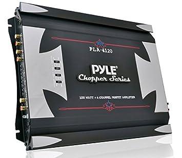Pyle PLA4120 - Amplificador Mosfet (1000 W, 4 canales, alta ...