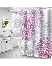 Didihou Polyester Fabric Shower Curtain Decorative Waterproof Bathroom Curtain with Hooks
