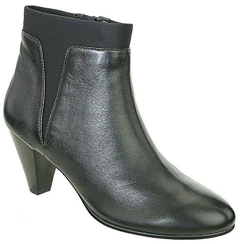 David Tate Women's Vivian Fashion Ankle Boots, Black Leather, 8 M